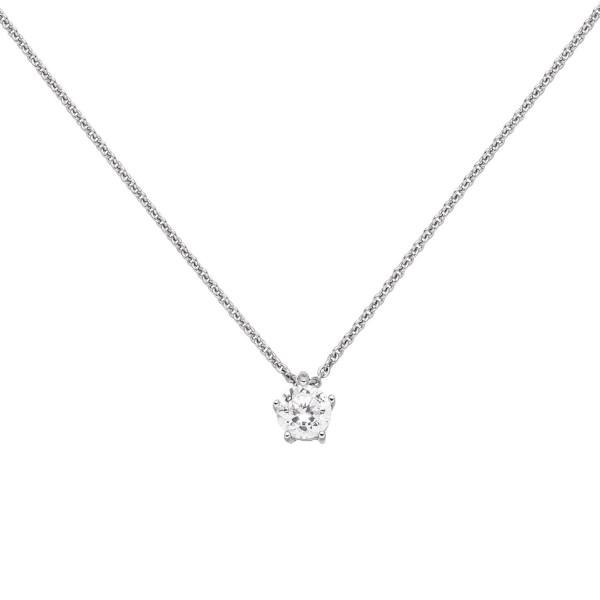 Diamant Halskette in 750er Weißgold