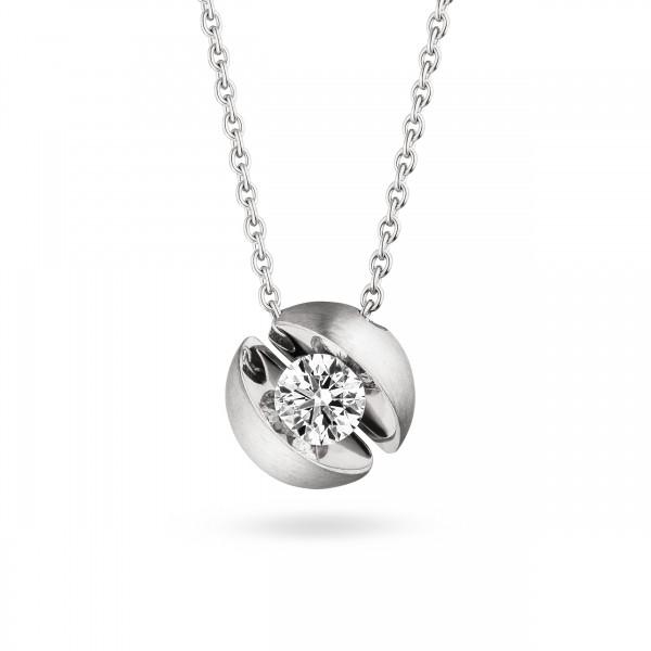 Diamant Halskette Weißgold