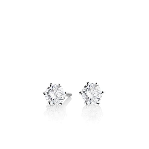 Diamant Ohrringe in 750er Weißgold