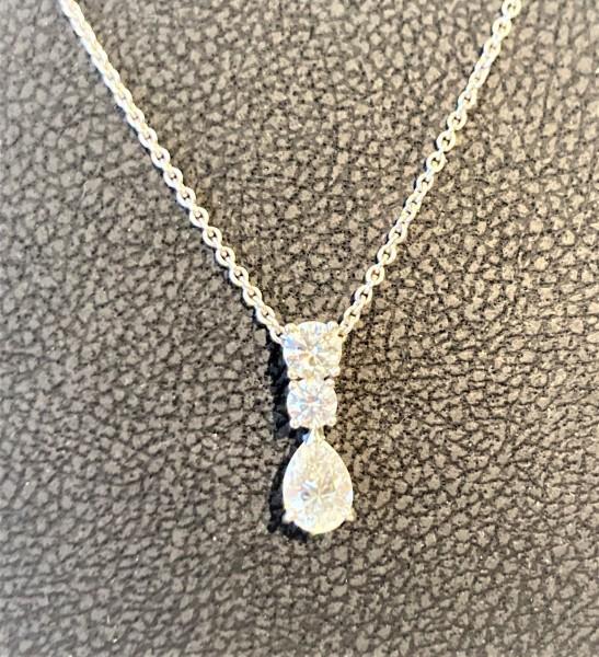 Halskette mit Diamanten in 750er Weißgold