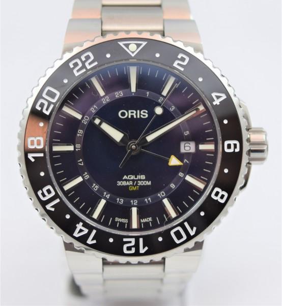 Oris Aquis Date GMT, Certified Pre-Owned VERKAUFT!